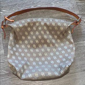 Dooney & Bourke LOGO Purse Brown Shoulder Bag
